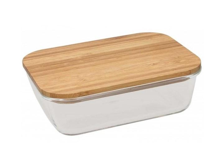 Szklany pojemnik Tognana Natural Love, prostokątny 750 ml Drewno Szkło Kategoria Pojemniki i puszki