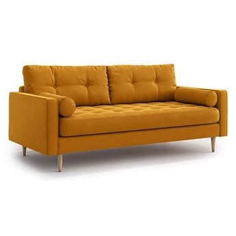 Sofa Esme II pikowana 3-osobowa, Golden Velvet