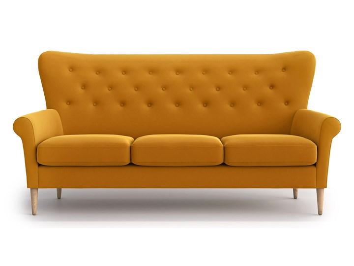 Sofa Amelie 3-osobowa, Golden Velvet Materiał obicia Tkanina Stała konstrukcja Funkcje Bez dodatkowych funkcji