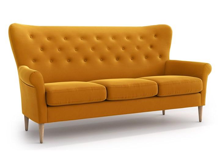 Sofa Amelie 3-osobowa, Golden Velvet Stała konstrukcja Funkcje Bez dodatkowych funkcji