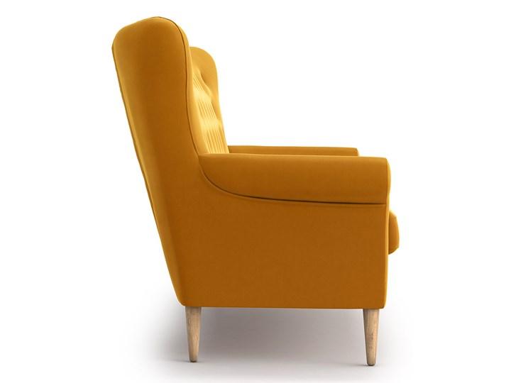 Sofa Amelie 3-osobowa, Golden Velvet Stała konstrukcja Typ Gładkie Styl Glamour