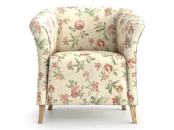 Fotel Juliett kubełek, Rosy Tkanina Fotel inspirowany Kategoria Fotele do salonu