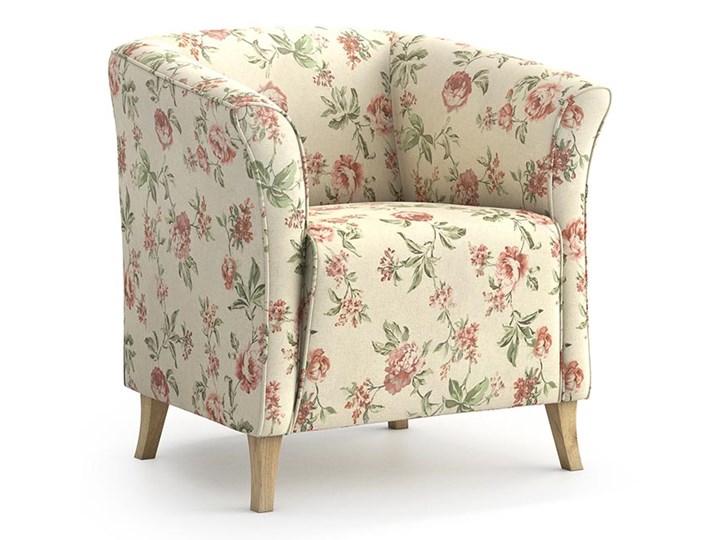Fotel Juliett kubełek, Rosy Tkanina Fotel inspirowany Styl Nowoczesny