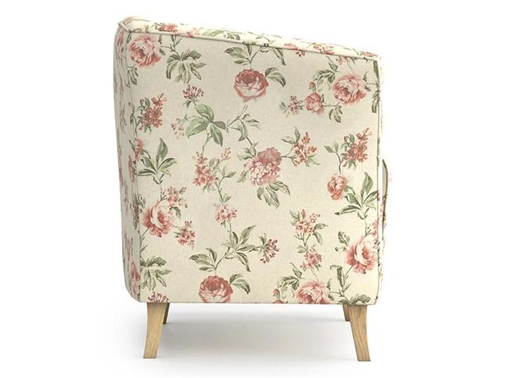 Fotel Juliett kubełek, Rosy Styl Nowoczesny Fotel inspirowany Tkanina Kolor Beżowy
