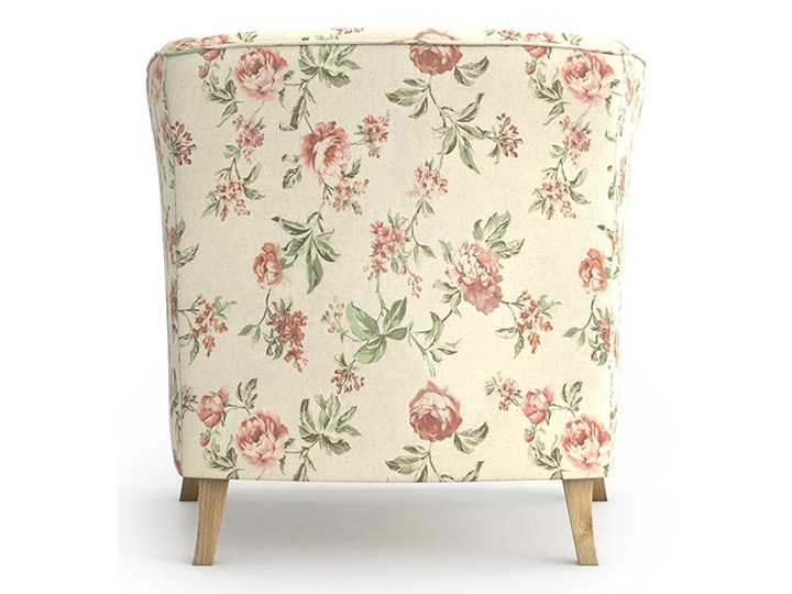 Fotel Juliett kubełek, Rosy Tkanina Fotel inspirowany Styl Prowansalski Styl Nowoczesny
