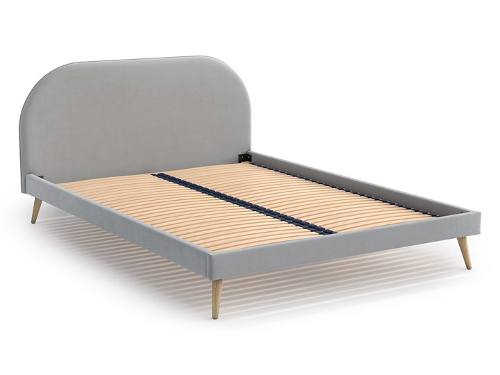 Łóżko Molly Double Bed, Aria Tkanina Rozmiar materaca 140x200 cm Łóżko drewniane Zagłówek Z zagłówkiem