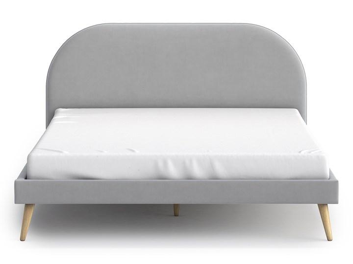 Łóżko Molly Double Bed, Aria Styl Skandynawski Tkanina Łóżko drewniane Pojemnik na pościel Bez pojemnika