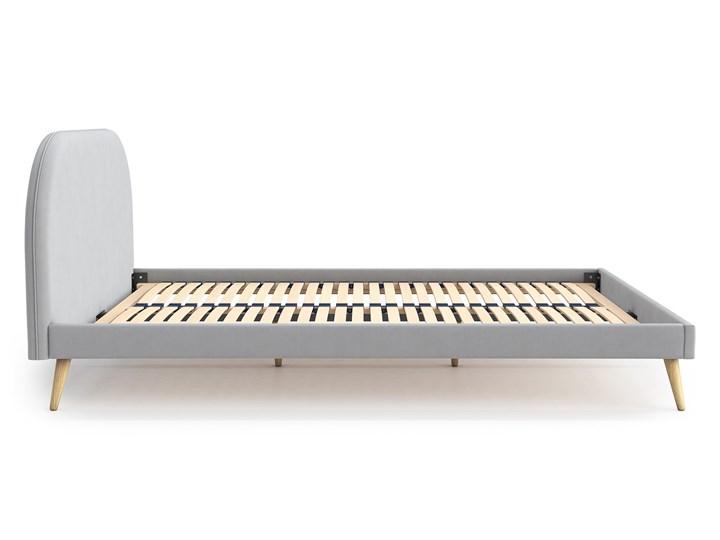 Łóżko Molly Double Bed, Aria Tkanina Rozmiar materaca 140x200 cm Łóżko drewniane Styl Skandynawski