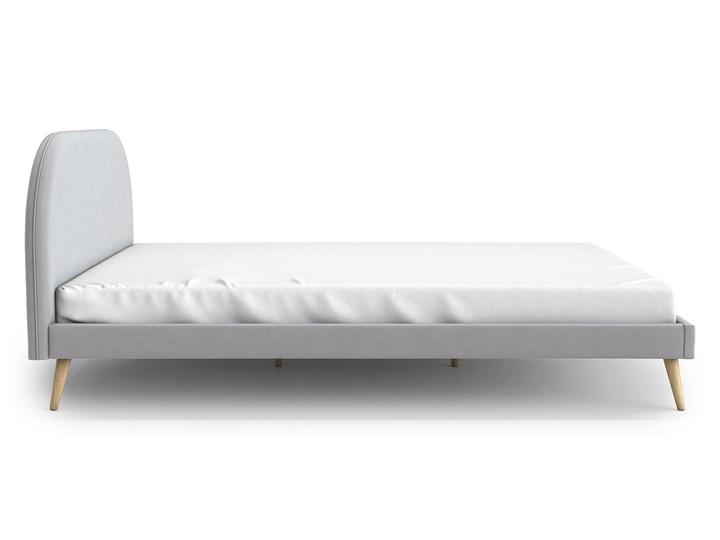 Łóżko Molly Double Bed, Aria Tkanina Styl Skandynawski Łóżko drewniane Rozmiar materaca 140x200 cm