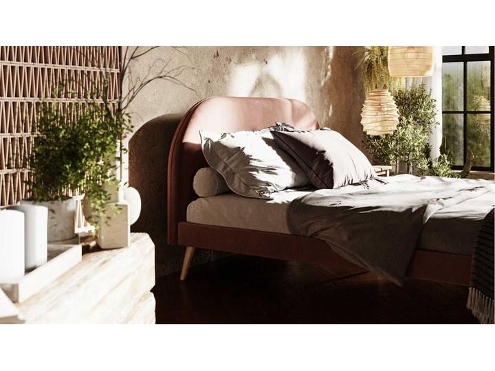 Łóżko Molly Double Bed, Aria Łóżko drewniane Tkanina Kategoria Łóżka do sypialni