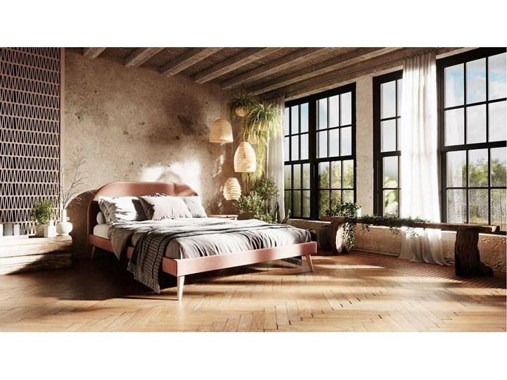 Łóżko Molly Single Bed, Aria Łóżko tapicerowane Tkanina Kolor Szary Zagłówek Z zagłówkiem