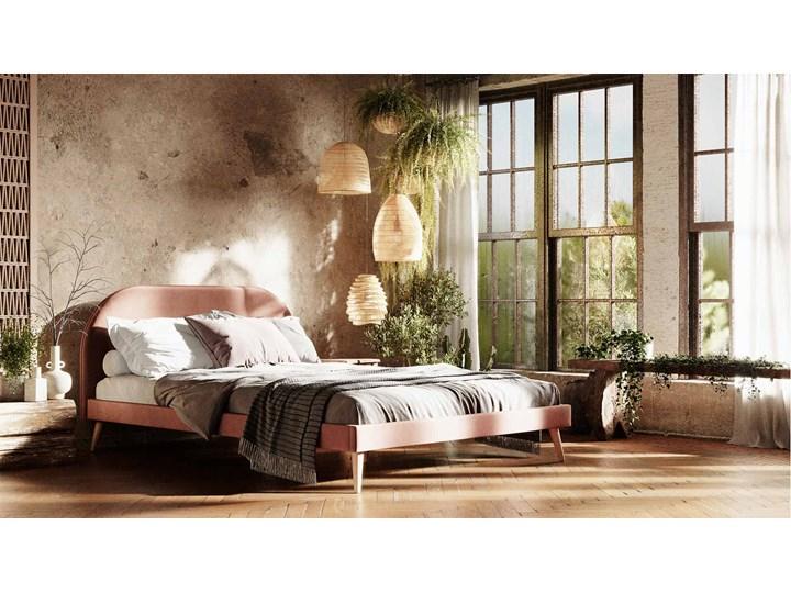 Łóżko Molly Double Bed, Aria Tkanina Łóżko drewniane Pojemnik na pościel Bez pojemnika