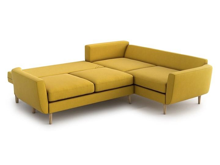 Narożnik Harris z funkcją spania, Canary, lewy Szerokość 250 cm Prawostronne Głębokość 95 cm Wysokość 86 cm Szerokość 215 cm Rozkładanie Rozkładany Kolor Żółty