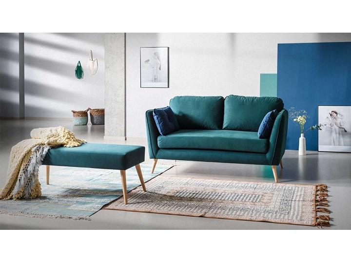 Sofa Clara 2-osobowa, Bottle Green/Navy Blue Szerokość 164 cm Głębokość 88 cm Stała konstrukcja Typ Gładkie