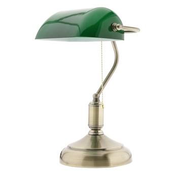 Lampka stołowa Abigali Bankierka zielona