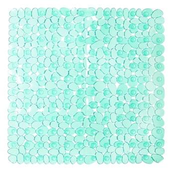 Zielona mata do prysznica iDesign Pebblz, 56x56 cm