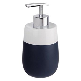 Niebiesko-biały ceramiczny dozownik do mydła Wenko Matta