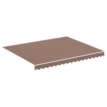 vidaXL Zapasowa tkanina na markizę, brązowa, 3x2,5 m