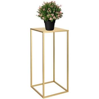 Stojak na kwiaty 60 cm nowoczesny kwietnik loft złoty półmat