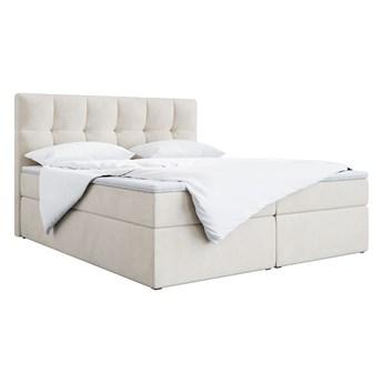 Łóżko, kontynent do sypialni z materacem i pojemnikiem na pościel - ALVIN