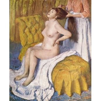Reprodukcja Woman Having Her Hair Combed, Edgar Degas