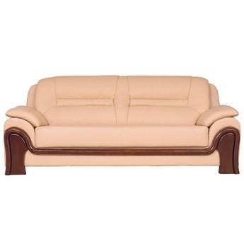Skórzana 3-osobowa sofa do gabinetu Palladio, kremowa