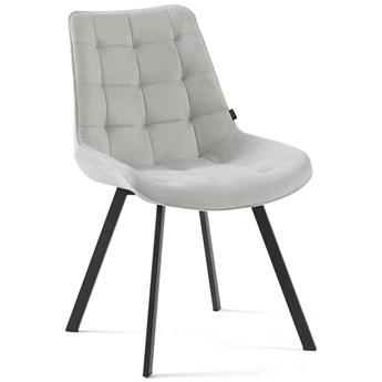 Krzesło tapicerowane jasny szary DC-6030 welur #13