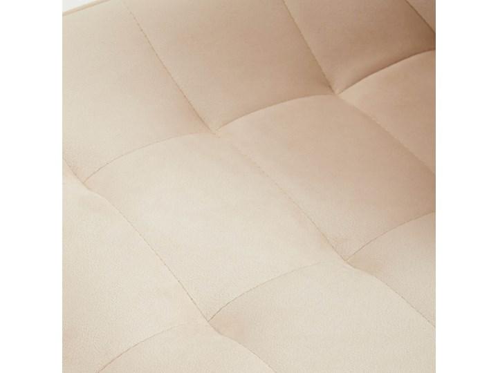 Krzesło tapicerowane beżowe DC-6030 welur #5 Tkanina Pikowane Tworzywo sztuczne Metal Styl Industrialny