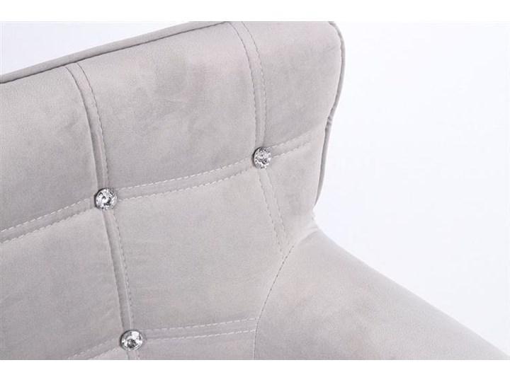 FOTEL HR804CCROSS STALOWY WELUR ZŁOTA PODSTAWA Fotel obrotowy Tkanina Kategoria Fotele do salonu