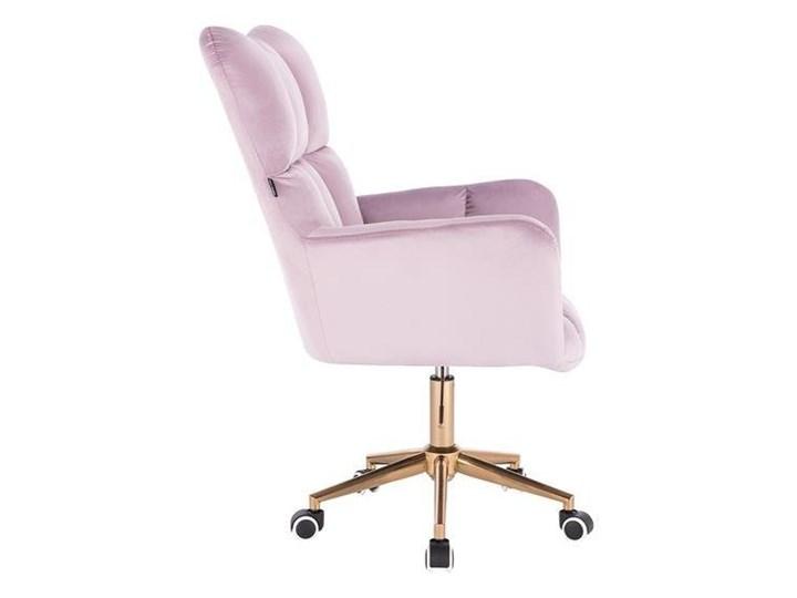 FOTEL HR650K WRZOSOWY WELUR ZŁOTA PODSTAWA Tkanina Fotel obrotowy Kolor Złoty Kategoria Fotele do salonu