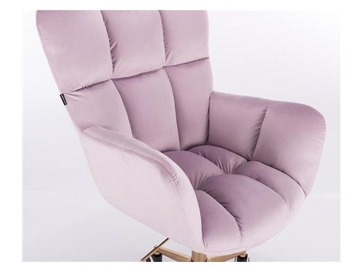 FOTEL HR650K WRZOSOWY WELUR ZŁOTA PODSTAWA Fotel obrotowy Tkanina Kolor Złoty Kategoria Fotele do salonu