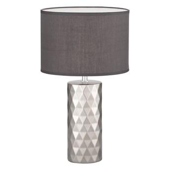 Szara lampa stołowa Fischer & Honsel Abo