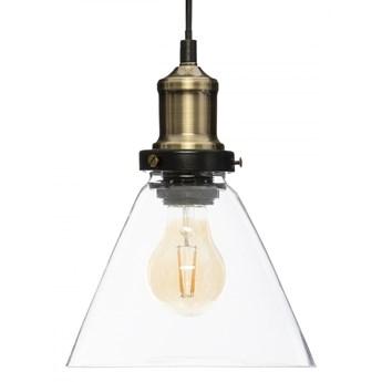 Lampa vintage stożek przezroczysta