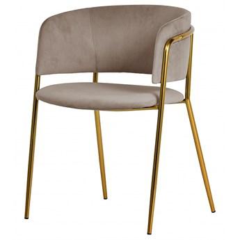 SELSEY Krzesło tapicerowane Domado beżowe