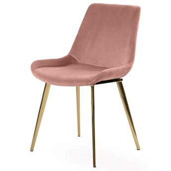 SELSEY Krzesło tapicerowane Tezano pudrowy róż