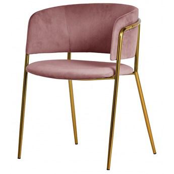 SELSEY Krzesło tapicerowane Domado pudrowy róż