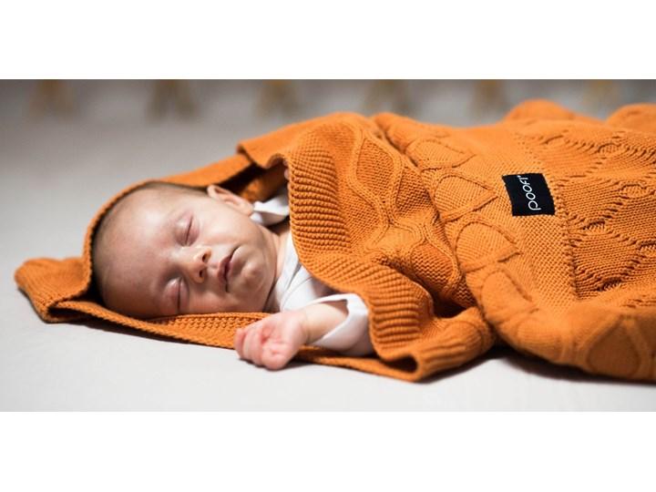 POOFI Kocyk tkany Dwa Sploty kolor: marchewkowy Bawełna 80x100 cm Kategoria Koce i pledy