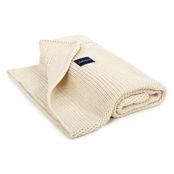 POOFI Kocyk tkany Classic Organic kolor: kremowy