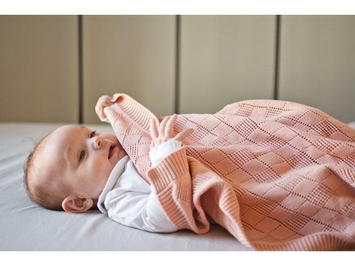 POOFI Kocyk ażurowy kolor: waniliowy Bawełna 75x90 cm Wzór Jednolity Kategoria Koce i pledy