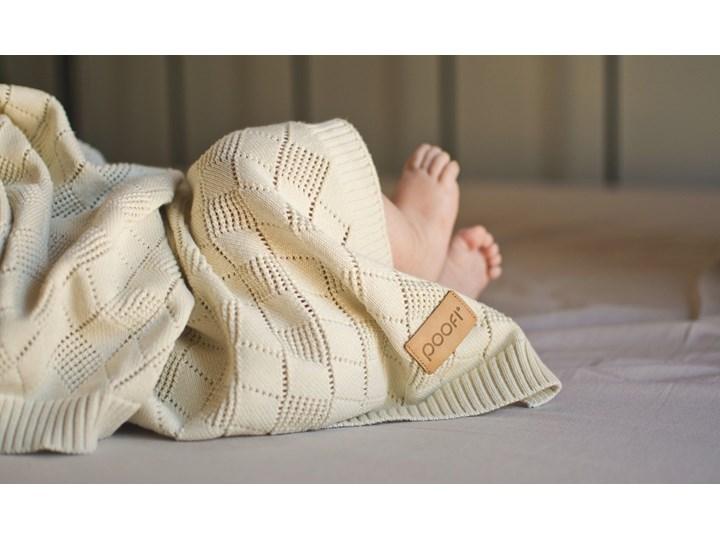 POOFI Kocyk ażurowy kolor: waniliowy Wzór Jednolity Bawełna 75x90 cm Kategoria Koce i pledy