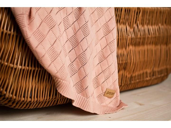 POOFI Kocyk ażurowy kolor: waniliowy Bawełna 75x90 cm Wzór Jednolity