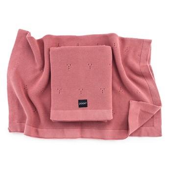POOFI Kocyk bawełniany Paris kolor: herbaciana róża
