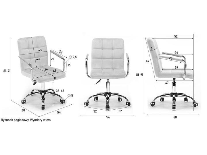 Krzesło biurowe obrotowe HARIS (SC-ZT1305) / Ciemny różowy Krzesło do biurka Pomieszczenie Biuro i pracownia Styl Nowoczesny