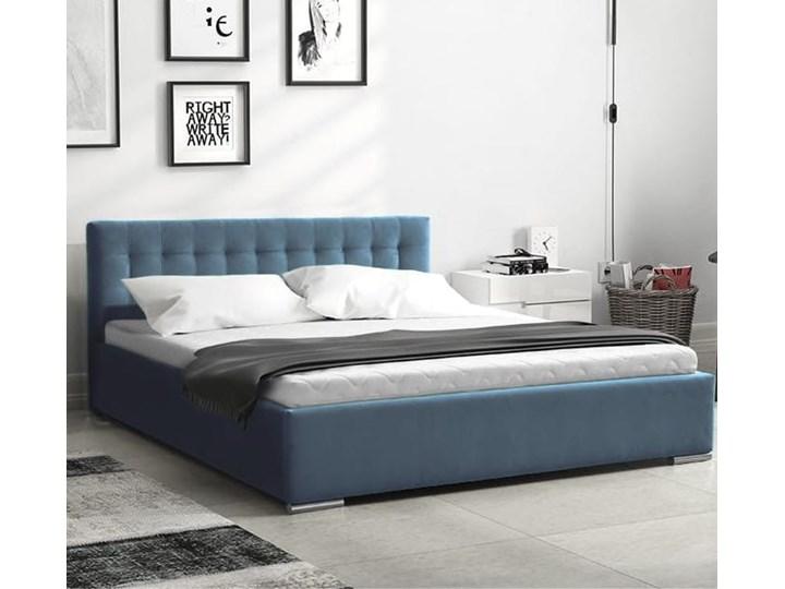 Łóżko tapicerowane Real z pojemnikiem/ velvet Welur Metal Tkanina Drewno Liczba miejsc Jednoosobowe