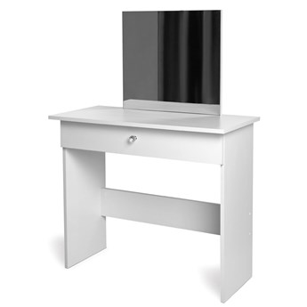 Biała toaletka z lustrem i szufladą - Selona