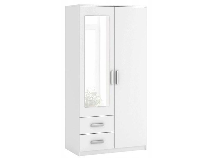 Biała szafa z lustrem Amira 2S