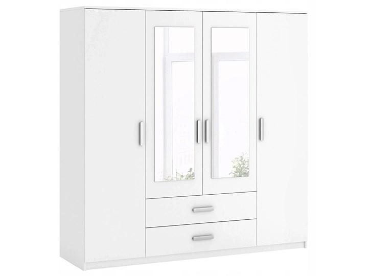 Biała czterodrzwiowa szafa Amira 3S