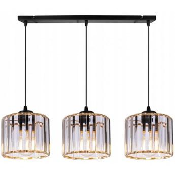 Klasyczna Lampa Wisząca ze Złotymi Szklanymi Kloszami