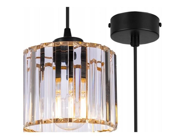 Regulowana Lampa Wisząca ze Szklanym Kloszem Metal Szkło Lampa z kloszem Kolor Szary Funkcje Brak dodatkowych funkcji