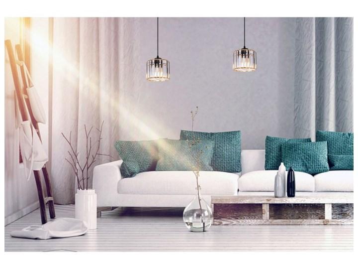 Regulowana Lampa Wisząca ze Szklanym Kloszem Kolor Szary Szkło Lampa z kloszem Metal Kategoria Lampy wiszące